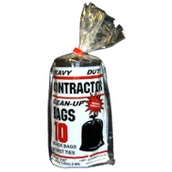 Primrose Plastics 10212 42 Gallon 2 Mil Black Contractor Bag 10 Count