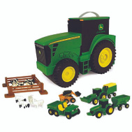 Tomy 35747 John Deere Farm Set Toy Tractr Carry Case