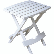 Adams 8510-48-3734 Quik Fold Folding Side Table White