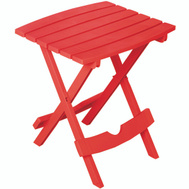 Adams 8510-26-3734 Quik Fold Folding Side Table Red