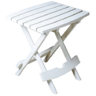Adams 8510-48-3734 Quik Fold Table Folding Quick Side White