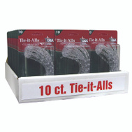 Adams 8710-06-1040 Tie-It-All Pvc Clear 10Ct 10 Pack