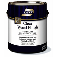 Deft PPG 011-01 Clear Semi Gloss Brushing Lacquer Interior Gallon