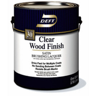 Deft PPG 017-01 Clear Satin Brushing Lacquer Interior Gallon
