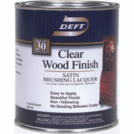 Deft PPG 017-04 Clear Satin Brushing Lacquer Interior Quart