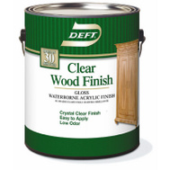 Deft PPG 107-01 Clear Gloss Wood Finish Interior Acrylic Waterborne Gallon
