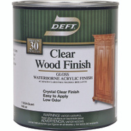 Deft PPG 107-04 Clear Gloss Wood Finish Interior Acrylic Waterborne Quart