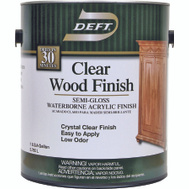 Deft PPG 108-01 Clear Semi Gloss Wood Finish Interior Acrylic Waterborne Gallon