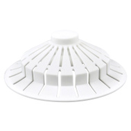 Danco 10771 Universal Bathroom Bathtub Suction Cup Hair Catcher Strainer And Snare White