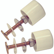 Danco 88884 Toilet Cap And Bolt Set Twister Screw On White