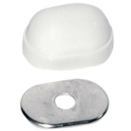 Danco 88970 Bolt Cap Closet Oval White 2 Pack