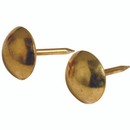 Hillman 122682 Round Brass Upholstery Nail Pack Of 25