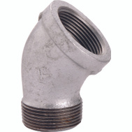WorldWide Sourcing PPG121-10 3/8 Inch Galvanized 45 Degree Street Elbow