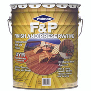 Wolman 14415 F & P Cedar F&P Finish And Preservative 5 Gallon Water Based