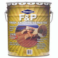 Wolman 14395 F & P Natural F&P Finish And Preservative 5 Gallon Water Based