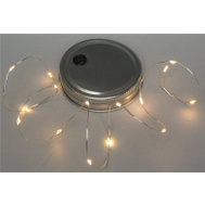 Gerson 93770 Mason Jar Lid String Light, 15