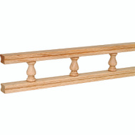 Waddell 5506 OAK 6 Ft Oak Galley Rail