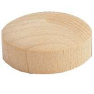Waddell 8200.50-CS Plug Hole Round Cs 1/2In Birch 15 Pack
