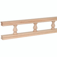 Waddell 550-6PC 6 Ft Maple Galley Rail