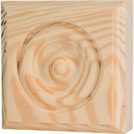 Waddell RTB-25 The Moulding Connection 2 3/4 By 2 3/4 Inch Pine Rosette Block