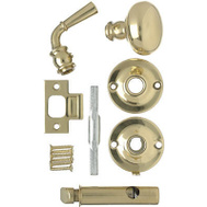 Hampton Wright V2200BR Polished Brass Screen Door Knob Latch