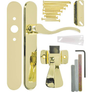 Hampton Wright VBG115PB Serenade Storm Or Screen Door Polished Brass Lever Set