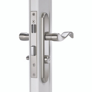 Hampton Wright VMT115SN Serenade Solid Brass Satin Nickel Finish Mortise Lever
