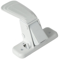 Hampton Wright V444ISWH White Heavy Duty Inside Door Latch
