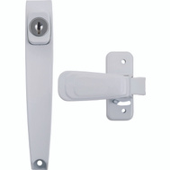 Hampton Wright VK444-2WH Door Latch Psh Btn Hd Kyd Wht