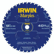 Irwin 1807382 Marples 12 Inch 40 Tooth Circular Saw Blade ATB Grind