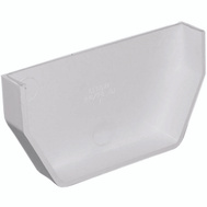 Genova or sub RW101 White Vinyl Gutter Inside End Cap