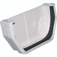 Genova RW102 Raingo White Vinyl Gutter Outside End Cap