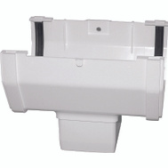 Genova RW104 Raingo White Vinyl Gutter 2-1/2 Inch Drop Outlet