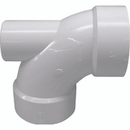 Genova 73032 3 By 3 By 2 Inch Dwv Plastic 90 Degree Elbow