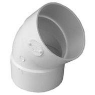 Genova 40630 Elbow 45Deg Pvc Hub 3In