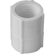 Genova 30128 1 Inch White Threaded Coupling FIP X FIP