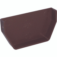 Genova or sub RB101 Brown Vinyl Gutter Inside End Cap
