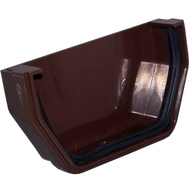 Genova RB102 Raingo Brown Vinyl Gutter Outside End Cap