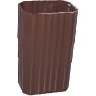 Genova or sub AB203 2 By 3 Inch Brown Vinyl Dounspout Coupler