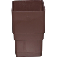 Genova or sub RB203 Brown Vinyl 2-1/2 Inch Square Downspout Coupler