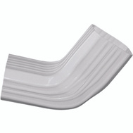 Genova or sub AW221 2 By 3 Inch White Vinyl Downspout Elbow A To B-Style