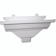 Genova AW104 Repla K White Vinyl 2 By 3 Inch Gutter Drop Outlet