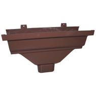 Genova AB104 Repla K Brown Vinyl 2 By 3 Inch Gutter Drop Outlet