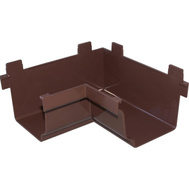 Genova AB103AK Repla K Brown Vinyl Gutter 90 Degree Inside Corner