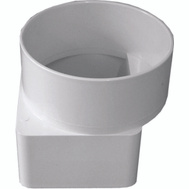 Genova 46344 Duraspout 3 By 4 Inch Offset Downspout Adapter To 4 Inch Sewer Pipe White