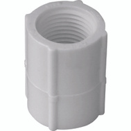 Genova 30127 3/4 Inch White Threaded Coupling FIP X FIP