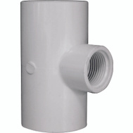Lasco Fittings 31488 1-1/4 By 1-1/4 By 3/4 Inch PVC Reducing Female Tee Slip X Slip X FIP