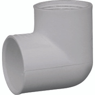 Genova 33910 1 Inch PVC 90 Degree Female Elbow Slip X FIP