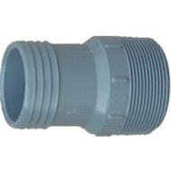Genova 350421 2 By 1-1/2 Inch Poly Insert Male Reducing Adapter