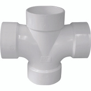 Genova 73542 4 By 4 By 2 By 2 Inch Double Sanitary Tee